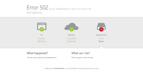 pasion no funciona cloudflare